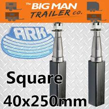 "Ark Square Stub Axle Black Painted 40mm X 10"" 1000kg SAX4010"