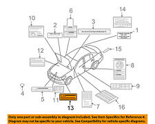 NISSAN OEM Labels-Information or Warning Sticker 2605989910