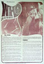 THE WHO REPRO 1968 CROYDON FAIRFIELD HALL 21 SEPT CONCERT POSTER