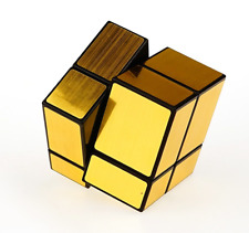 Speed Rubik's Cube 2x2 Mirror Surface Magic Twist Puzzle Educational Toy Gold
