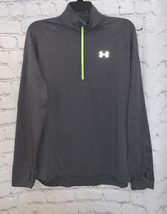 Under Armour Men's X-Large 1/4 Zip All Season Gear Gray Neon Track Jacket