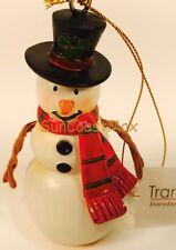 "Resin Christmas Tree Ornament Snowman Red Scarf 4.5"" Tall Hallmark Store"