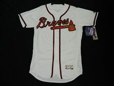Authentic Atlanta Braves FLEX BASE Home White Jersey 52