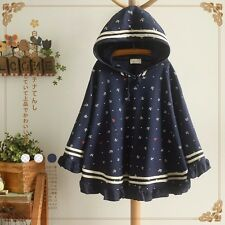 Brand New Korean Style Hoodie Outwear Jacket Cardigan Cloak Anchor Top S