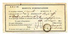 Y398-LOMB.VENETO-RICEVUTA D'IMPOSTAZIONE DA VOLTA 1860