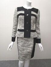 Oscar de la Renta Made in Italy Stunning Tweed Pencil Skirt Suit Size 4