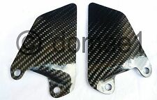 Ducati 750 800 900 1000 SS Supersport carbon heel guards driver pair plates