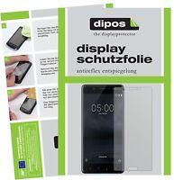2x Folie für Nokia 5 Schutzfolie matt Displayschutz Folie dipos Displayfolie