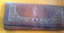 Gorgeous Vintage 1900's Arts & Crafts Leather Purse Large Wallet