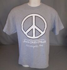 Joe's Crab Shack Peace Love and Crabs Minneapolis MN Gray T-Shirt Size Large