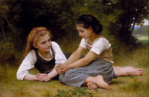 William Bouguereau The Nut Gatherers Giclee Canvas Print Paintings Poster