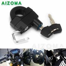Black Motorcycle Universal Helmet Lock Anti-Theft Padlock For 25mm Handlebar