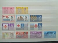 GREAT BRITAIN 1963 COMMEMORATIVE STAMPS YEAR SET MNH MINT ORD 6 x SETS 12 STAMPS