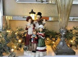 Large LED Lamp Post Light & Carol Singers Christmas Decoration Statue Ornament