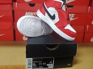 Sky Air Jordan1 Td Baby shoes White Black University Red BQ7196106 Chicago US8C
