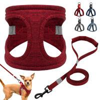 Reflecitve Dog Harness Cotton Step-in Dog Vest Lightweight for Small Medium Dogs