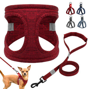 Reflecitve Dog Harness Cotton Step-in Dog Vest Lightweight for Small Medium Dogs