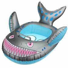 Baby Kids Grey Shark Shape Inflatable Swimming Pool Seat