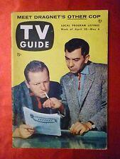 DRAGNET Webb Ben Alexander LUCY DESI Betty White TV GUIDE April 30 1954 Chicago