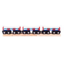 Bigjigs Rail Wooden Underground Train - Carriage Locomotive Track