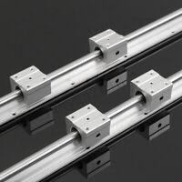 SBR10/SBR12/SBR16/SBR20 200-1000mm Rail Shaft Linear Rod +Bearing Block CNC Tool
