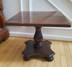 Ethan Allen Pedestal Square Side End Table HTF