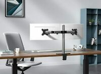 Dual Monitor Stand Heavy Duty Dual Arm Monitor Desk Mount Fully Adjustable