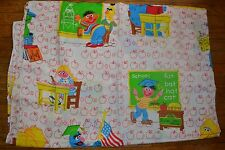 Vintage SESAME STREET BERT ERNIE Twin Flat Sheet Set School Days Back to School