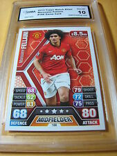 MAROUANE FELLAINI MANCHESTER UNITED 2013 TOPPS MATCH ATTAX GAME CARD GRADED 10