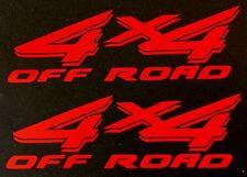 RED 4X4 OFF ROAD DECAL STICKER TRUCK FORD F-150 CHEVY SILVERADO DODGE RAM TOYOTA