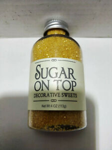 SUGAR ON TOP EDIBLE BAKING SPRINKLES by EVERYTHING NICE FOODS 4 OUNCENEW IN JAR