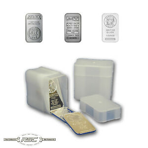 1 - CoinSafe 1-Oz Silver Bar Storage Tube - Holds 20 Bars