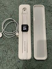 Apple Watch Sport 38mm Aluminum Space Gray W White Band. Read Description!