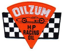 oilzum patch badge HP racing oil motorcycle hot rod service station gasoline