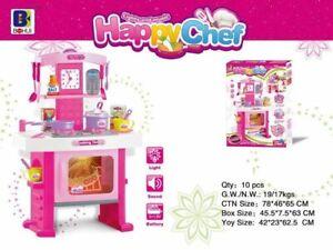 Happy Chef Parent-Children pretend play set Pink kitchen toys Cutlery Gift sets