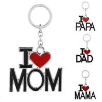 Alloy Key Chains Love Family English Lettering Christmas Gift Mother's Day