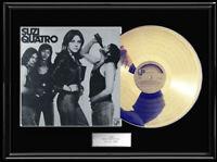 SUZI QUATRO WHITE GOLD SILVER  PLATINUM TONE RECORD LP VINYL ALBUM RARE