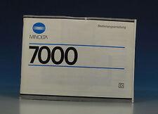 Minolta 7000 Manuale German manual - (91036)
