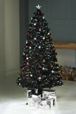 NEW INDOOR FIBRE OPTIC MULTI-COLOUR LED CHRISTMAS XMAS STAR TREE TOP