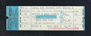 VINTAGE 1972-73 NBA WARRIORS @ LOS ANGELES LAKERS FULL PLAYOFF TICKET B1 GAME#1