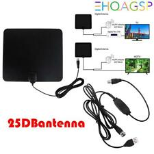 Flat HD Digital Indoor Amplified TV Antenna HDTV 50 Mile Range