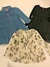 BNWOT DENIM DRESS, PARTY DRESS AND BUTTERFLY TUNIC 1.5-2 YEARS NEXT MOTHERCARE