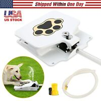 """Outdoor Trouble Free Dog Pet Drinking Doggie Activated Water Fountain 41"""" Hose"""