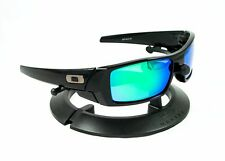 OAKLEY GASCAN POLISHED BLACK FRAME / REVANT EMERALD GREEN POLARIZED CUSTOM LENS