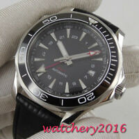 41mm Sterile Black dial Date sapphire glass GMT automatic Mechanical mens watch