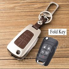 5 Button Key Case Shell Fob Bag Trim For Chevrolet Camaro Cruze Sonic Volt Spark