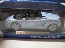 MAISTO 1:18 Lamborghini Gallardo Spyder SPECIAL EDITION LIGHT BLUE DIECAST