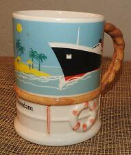 "Vintage coffee mug Holland America ship""Noordam"" Staffordshire Fine Bone China"