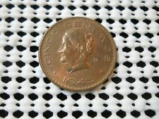 1945 MEXICO 5 CENTAVOS COIN HIGH GRADE AU FREE SHIPPING TO USA