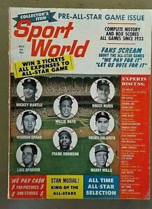 Vintage July 1962 Sport World Magazine Mantle, Mays, Spahn